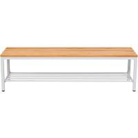 Garderobenbank mit Schuhrost 150 cm grau