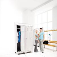 Garderobenbank einseitig 200 cm grau