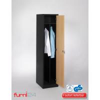 Garderobenschrank Abteilbreite 40 cm ganze Türen mit schwarz/weiß Trennung