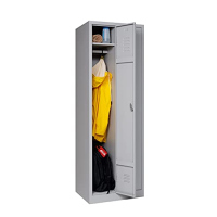Garderobenschrank 2-türig grau