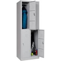 Garderobenschrank Abteilbreite 30 cm halbe Türen