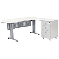 """Schreibtisch Chefschreibtisch Winkelschreibtisch """"Gela"""" Grau rechts gewinkelt"""