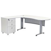"""Schreibtisch Chefschreibtisch Winkelschreibtisch """"Gela"""" Grau links gewinkelt"""