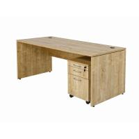 Schreibtisch Nuvi 180 cm x 80 cm x 75 cm Saphir Eiche