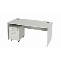 Schreibtisch Nuvi 180 cm x 80 cm x 75 cm grau