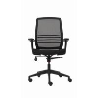 Bürodrehstuhl Netzrücken Cobi schwarz