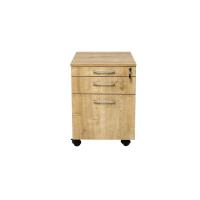 Rollcontainer Schreibtischcontainer Holz 3 Schübe Eiche