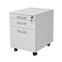 Rollcontainer Schreibtischcontainer Holz 3 Schübe grau