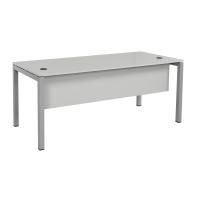 Schreibtisch Tetra 160 x 80 x 75 cm grau/silber RAL 9006