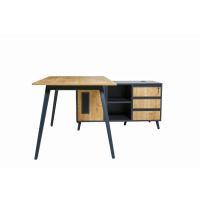 Schreibtisch Shift 180 cm inkl. Anbau rechts o. links montierbar Eiche/Anthrazit