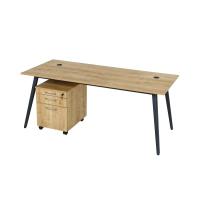 Schreibtisch Shift 4 Fuß 160 cm Eiche/Anthrazit