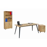 Schreibtisch Shift 4 Fuß 180 cm Eiche/Anthrazit