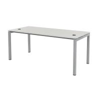 Schreibtisch Tetra 180 x 80 x 75 cm grau/silber RAL 9006