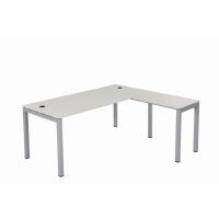 Schreibtisch Tetra 180 cm inkl. Anbau rechts o. links montierbar grau/silber RAL 9006