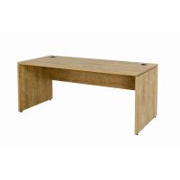 Büro Schreibtisch Set 1 Nuvi Saphir Eiche Dekor, Bestehend Aus: Schreibtisch 180 cm, Rollcontainer 3 Schübe & Aktenschrank Oben offen und unten Türen 190 cm hoch