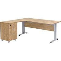 Büro Schreibtisch Set Dona Saphir Eiche Dekor,...