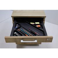 Büro Schreibtisch Set Tetra 180 cm, Eiche/silber RAL 9006, Bestehend aus: Schreibtisch, Rollcontainer mit 3 Schüben, Aktenschrank Saphir Eiche Dekor mit 2 Türen und 1 Einlegeboden