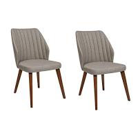 2er Set Esszimmerstühle gerundete Sitzschale,...