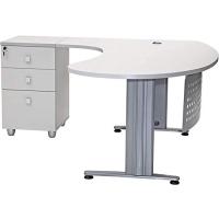 """Büro Schreibtisch Set 1 """"GELA"""" grau Dekor,..."""