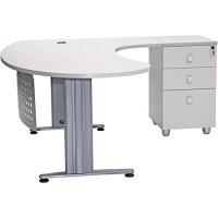 """Büro Schreibtisch Set 2 """"GELA"""" grau Dekor,..."""