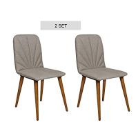 2er Set Esszimmerstühle, Küchenstuhl, Wohnzimmerstuhl, Polsterstuhl, Design Stuhl, 2 cm Schaumstoffpolsterung, Stoffbezug