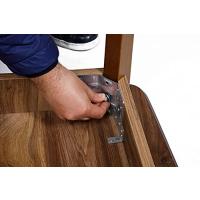 Esstisch aus Holz, Rechteckiger moderner Tisch für Esszimmer, Wohnzimmer, Küche, Walnussfarbe 120x77x77 cm