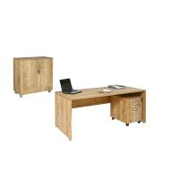 Büro Schreibtisch Set 2 Nuvi Saphir Eiche Dekor,...