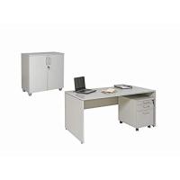 Büro Schreibtisch Set 2 Nuvi grau Dekor, Bestehend...