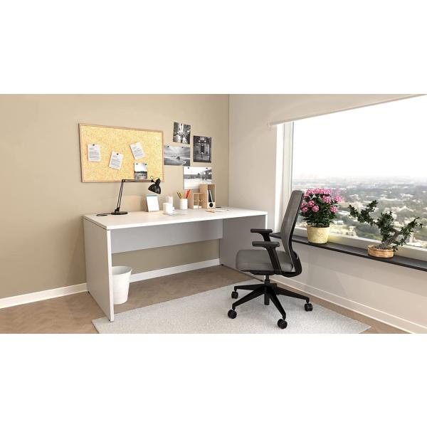 Schreibtisch Nuvi 160 cm x 80 cm x 75 cm grau inkl. Kabelkanal