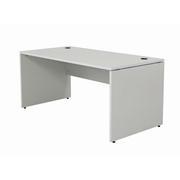 Schreibtisch Nuvi 180 cm x 80 cm x 75 cm grau inkl. Kabelkanal
